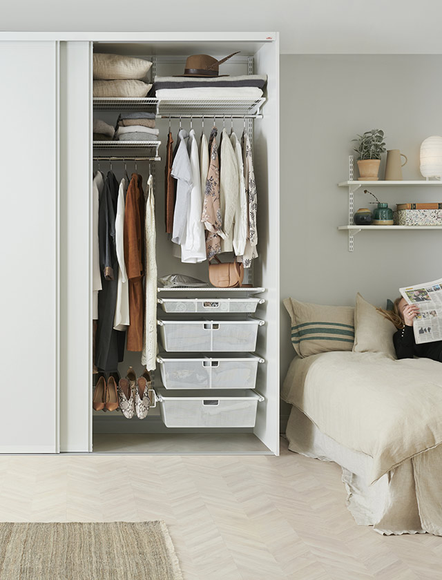 Elfa storage solutions bedroom