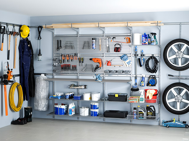 Elfa storage solution garage