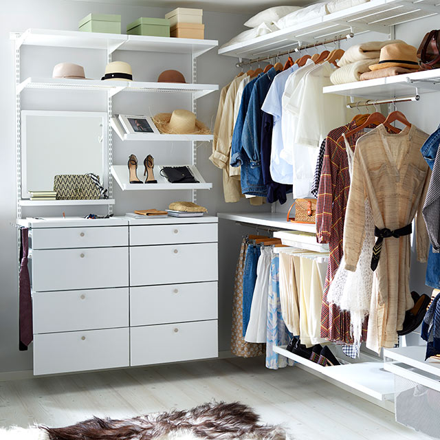 Elfa storage solution walk-in-closet