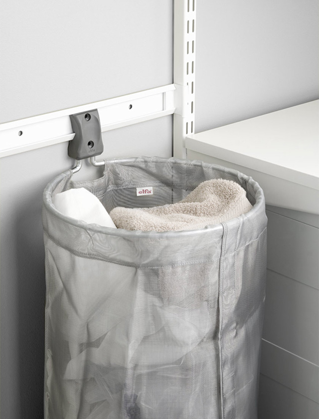 Elfa storage solution laundry and cleaning