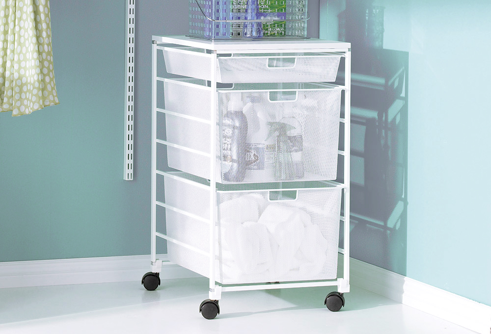 Elfa laundry and cleaning 4-runner frame sides