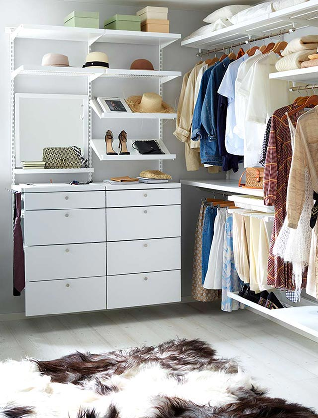 Elfa walk-in-closet decor