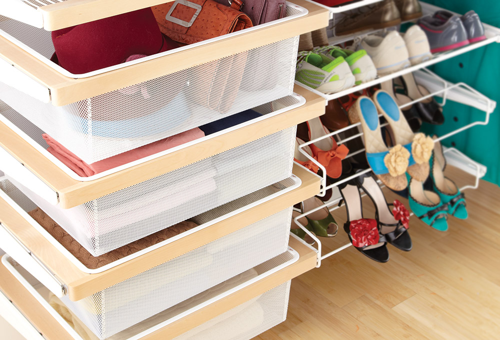 Drawers that can be moved from laundry room to wardrobe