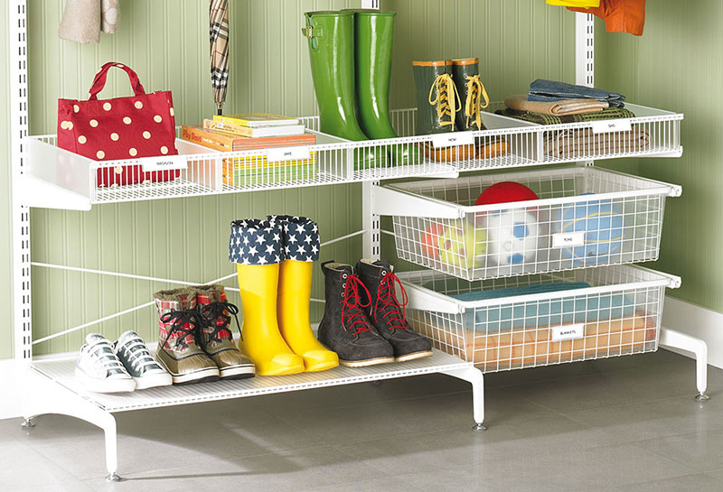Hall including storage for children's boots, hats, gloves etc.