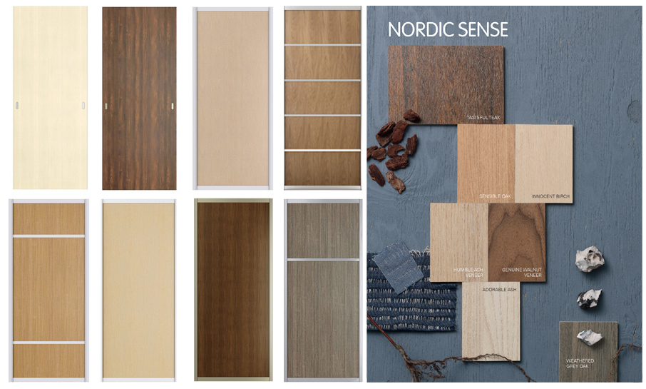 Sliding door colours - Nordic Sense