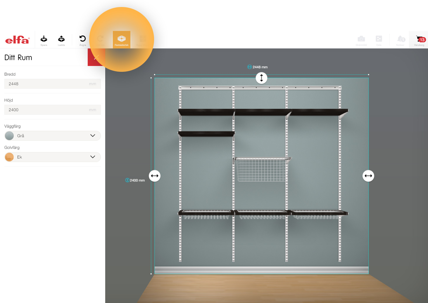 Elfa   Plan your own wardrobe and storage solution here