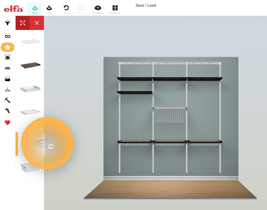 Elfa | Plan your own wardrobe and storage solution here