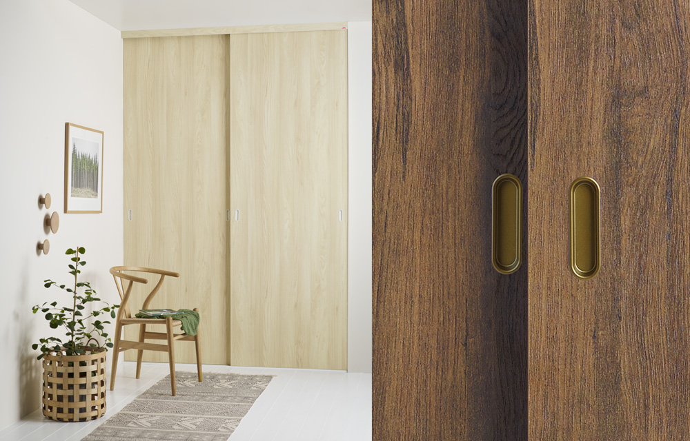 Conceal with style ... & Elfa sliding doors | made-to-measure for wardrobe storage spaces ...