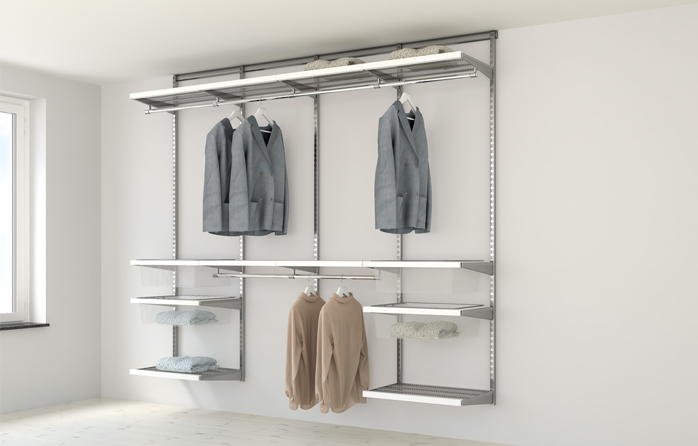 Elfa Storage Solutions For Nice Wall Mounted Storage In