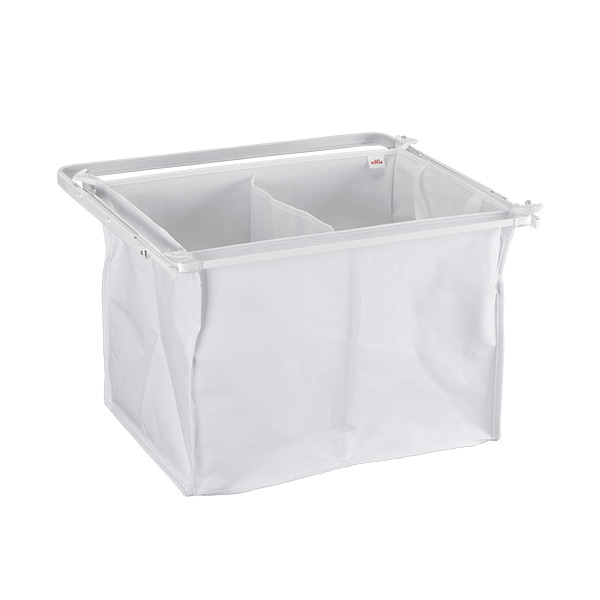 Gliding divided hamper